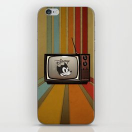 fallout Dismay cartoon on vintage tv iPhone Skin