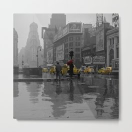 Yellow Cabs New York Metal Print