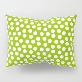 White Polka Dots on Fresh Spring Green - Mix & Match with Simplicty of life Pillow Sham