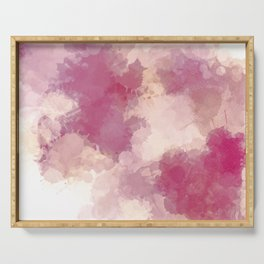 Mauve Dusk Abstract Cloud Design Serving Tray