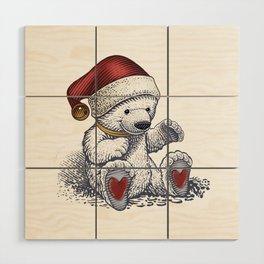 Polar Bear Loves Christmas Wood Wall Art