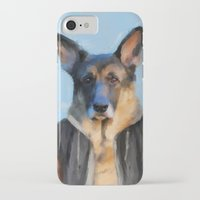 german shepherd iPhone & iPod Cases featuring Chic German Shepherd by Jai Johnson
