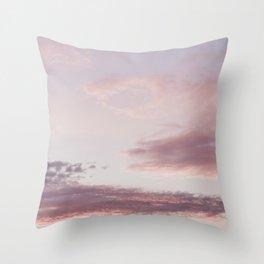 Goodmorning Pink Skies | Sunrise Cloudhotography Throw Pillow