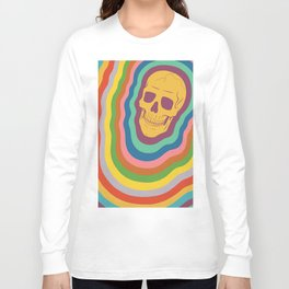 Trippy Rainbow Skull Long Sleeve T-shirt