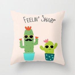Feelin' Sharp Throw Pillow