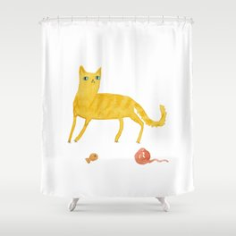Nice Ginger Cat Shower Curtain