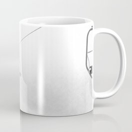 4 Seat Chair Lift Deep Snow B&W Coffee Mug