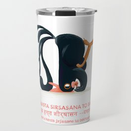 Mukha Hasta Sirsasana to Bakasana Chicken Yoga Travel Mug