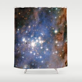 Star cluster Trumpler 14 in the Milky Way (NASA/ESA Hubble Space Telescope) Shower Curtain