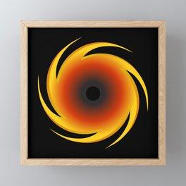 Black Hole Space Graphic Framed Mini Art Print