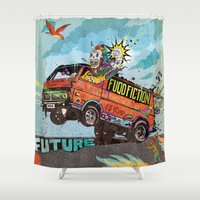 soul eater Shower Curtains featuring Opium Eater by Beery Method