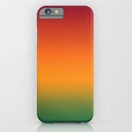 Fall Autumn Red Orange Green Gradient Ombre Pattern Colorful Soft Texture iPhone Case
