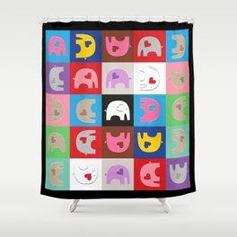 Elephant Love Furoshiki #2 Shower Curtain