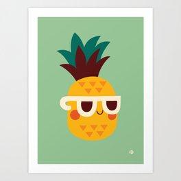 Sunny Funny Pineapple Art Print