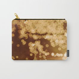 Gold Sparkles Carry-All Pouch