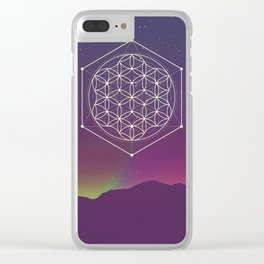 Flower Of Life 2 Clear iPhone Case