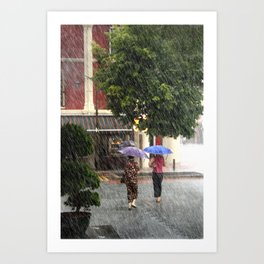 Wet Day in the City Art Print