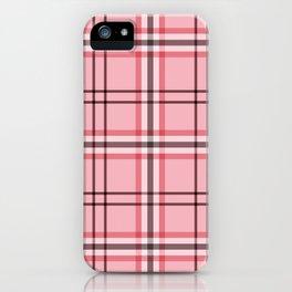 Pink & Grey Plaid Pattern iPhone Case