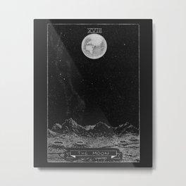 The Moon Tarot Card Metal Print