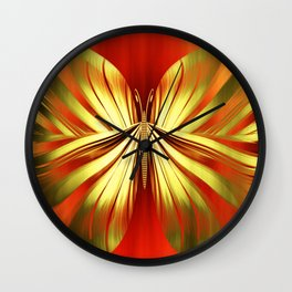 Butterfly gold Wall Clock
