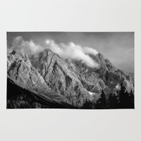 germany Area & Throw Rugs featuring ZugSpitze Germany by KunstFabrik_StaticMovement Manu Jobst