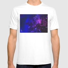 Mysterious Galaxy Mens Fitted Tee White MEDIUM