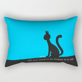 Cat calmly watching in silence Rectangular Pillow