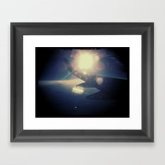 Right past the wing Framed Art Print