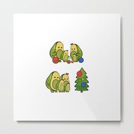 Avocado Christmas Avocado Lover Gift Metal Print