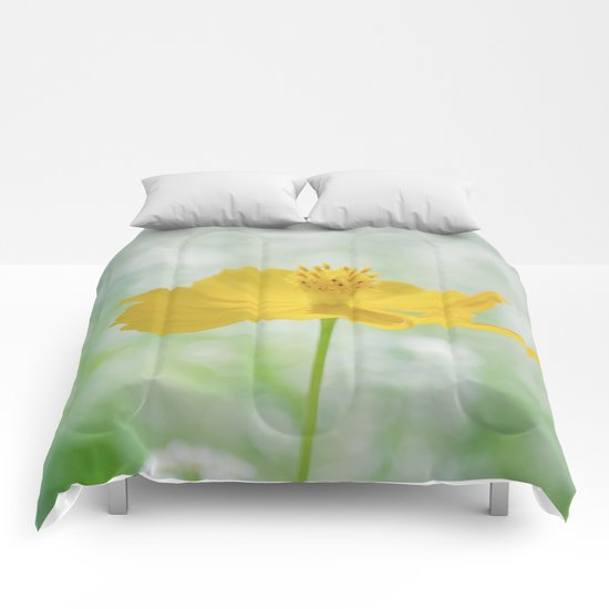 Yellow Bloom Comforters