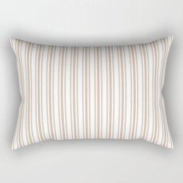 Trendy Large Beige Burlap French Mattress Ticking Double Stripes Rectangular Pillow