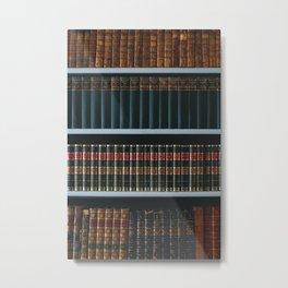 Bookshelf Books Library Bookworm Reading Metal Print