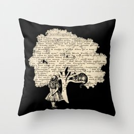 Alice In Wonderland Vintage Book Throw Pillow