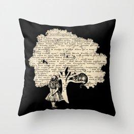 Alice In Wonderland Vintage Book Throw Pillow