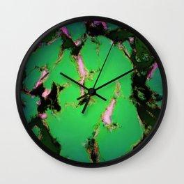 Soft green shatter Wall Clock