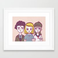 royal tenenbaums Framed Art Prints featuring Tenenbaums by Pilotinta