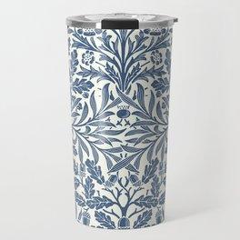 William Morris Navy Blue Botanical Pattern 2 Travel Mug