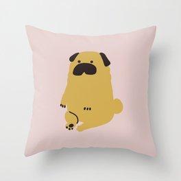 Pug Minimal Throw Pillow