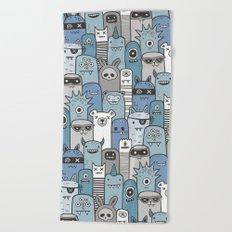 Monsters & Friends in Blue Beach Towel