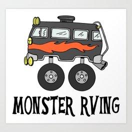 Monster RVing Art Print