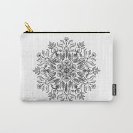 Thrive - Monochrome Mandala Carry-All Pouch