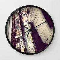 stickers Wall Clocks featuring Stickers by Cultivate Bohemia