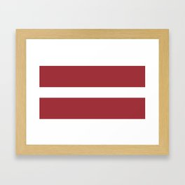Flag of Latvia Framed Art Print