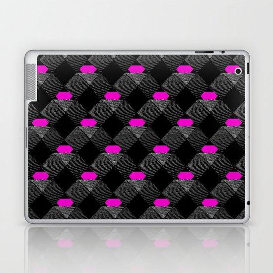 Geometric Pattern - BW & Pink Laptop & iPad Skin