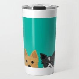 Pippen & Sooty - Teal Travel Mug