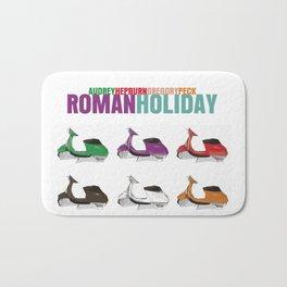 Roman Holiday Movie Poster Bath Mat