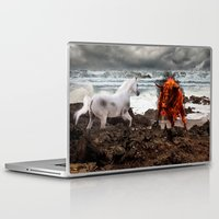 the last unicorn Laptop & iPad Skins featuring The Last Unicorn by Christy McNutt