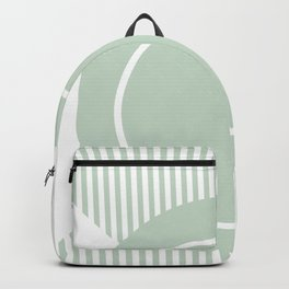 shapes lineart green home decor abstract decor Backpack