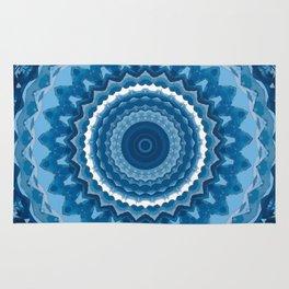 Blue mandala 2 Rug