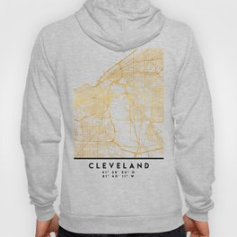CLEVELAND OHIO CITY STREET MAP ART Hoody